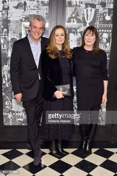 Danny Huston Lucy Yeomans and Anjelica Huston attend NETAPORTER and MR PORTER partner with Letters Live on February 26 2018 in Los Angeles California