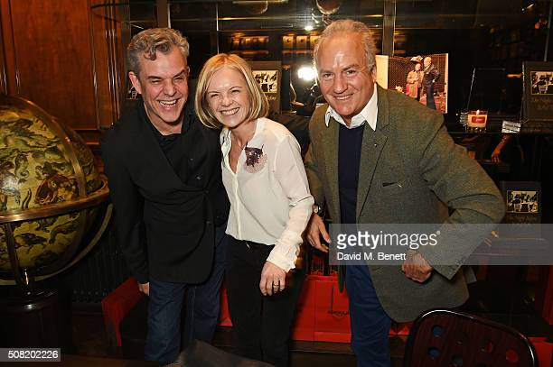 Danny Huston Mariella Frostrup and Charles Finch attend the launch of 'The Night Before BAFTA' by Charles Finch at Maison Assouline on February 3...