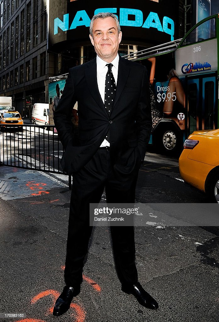 Danny Huston visits the NASDAQ MarketSite on June 12, 2013 in New York City.