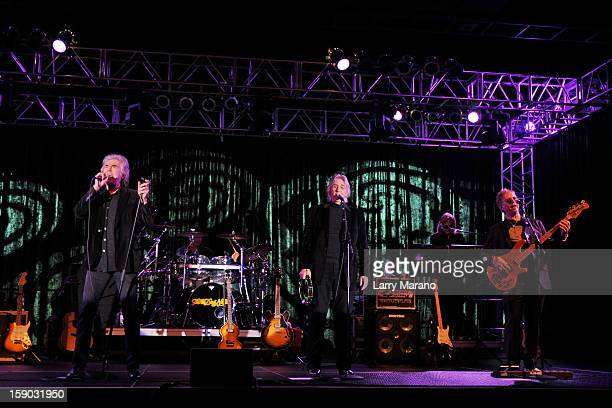 Danny Hutton, Cory Wells and Paul Kingery of Three Dog Night perform at Seminole Casino Coconut Creek on January 5, 2013 in Coconut Creek, Florida.