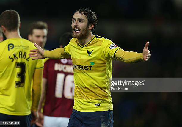 Danny Hylton of Oxford United in action during the Sky Bet League Two match between Oxford United and Northampton Town at Kassam Stadium on February...