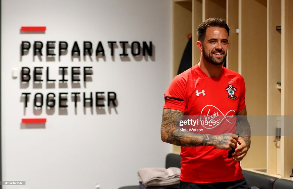Danny Ings ahead of his first Southampton FC training session at the Staplewood Campus on August 10, 2018 in Southampton, England.