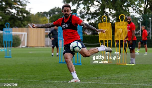 James WardProwse during a Southampton FC training session at Staplewood Complex on September 25 2018 in Southampton England