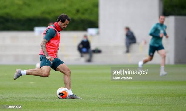 Danny Ings during a Southampton FC training session at the Staplewood Campus on June 09 2020 in Southampton England