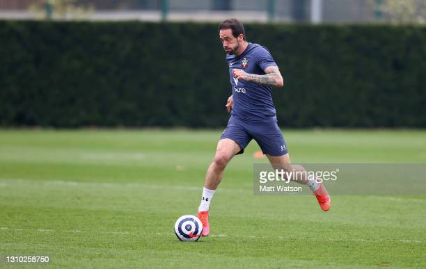 Danny Ings during a Southampton FC training session at the Staplewood Campus on March 31, 2021 in Southampton, England.