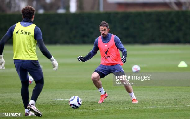Danny Ings during a Southampton FC training session at the Staplewood Campus on April 10, 2021 in Southampton, England.