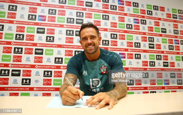 Danny Ings makes his loan deal permanent with Southampton FC pictured at the Staplewood Campus on July 01 2019 in Southampton England