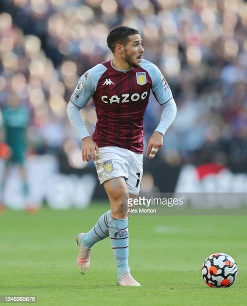 Danny Ings of Aston Villa during the Premier League match between Aston Villa and Wolverhampton Wanderers at Villa Park on October 16, 2021 in...