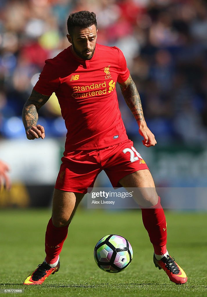 Danny Ings of Liverpool controls the ball during a pre-season friendly between Wigan Athletic and Liverpool at JJB Stadium on July 17, 2016 in Wigan, England.
