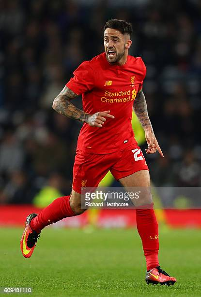 Danny Ings of Liverpool in action during the EFL Cup Third Round match between Derby County and Liverpool at iPro Stadium on September 20 2016 in...