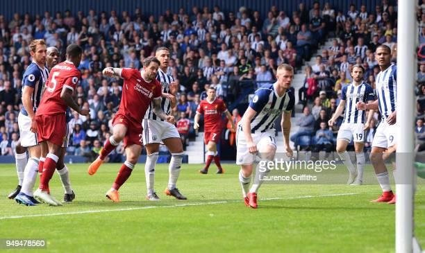 Danny Ings of Liverpool scores his sides first goal during the Premier League match between West Bromwich Albion and Liverpool at The Hawthorns on...