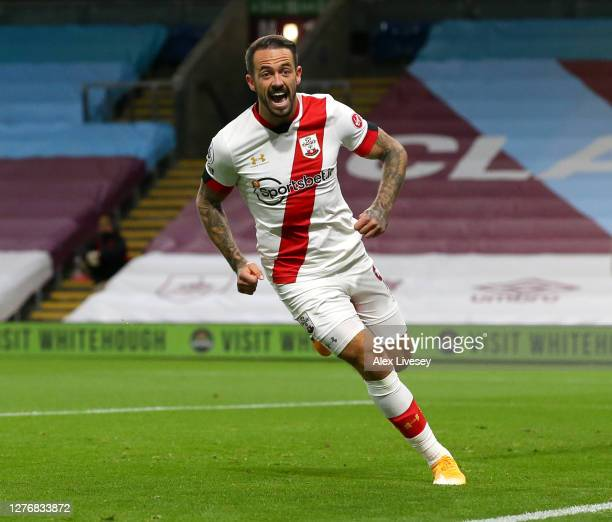 Danny Ings of Southampton celebrates after scoring his team's first goal during the Premier League match between Burnley and Southampton at Turf Moor...