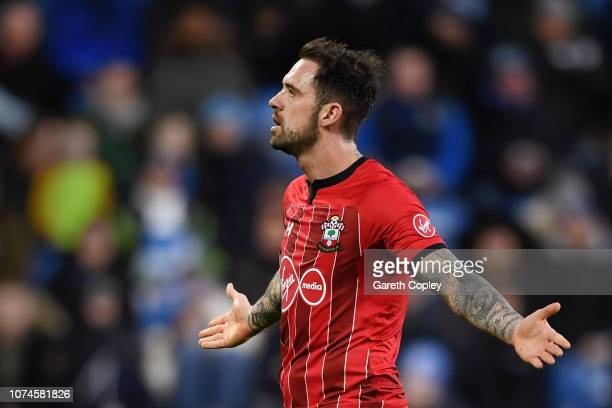 Danny Ings of Southampton celebrates after scoring his team's second goal during the Premier League match between Huddersfield Town and Southampton...