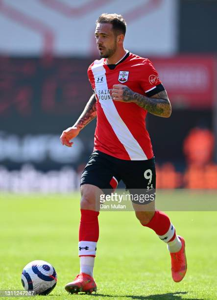 Danny Ings of Southampton controls the ball during the Premier League match between Southampton and Burnley at St Mary's Stadium on April 04, 2021 in...