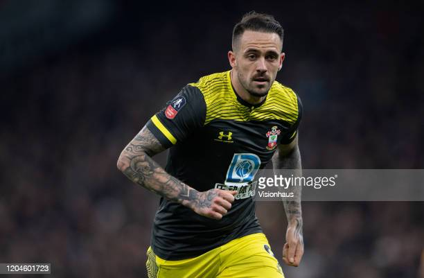Danny Ings of Southampton during the FA Cup Fourth Round Replay match between Tottenham Hotspur and Southampton FC at Tottenham Hotspur Stadium on...