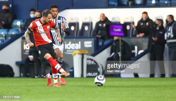 Danny Ings of Southampton during the Premier League match between West Bromwich Albion and Southampton at The Hawthorns on April 12, 2021 in West...