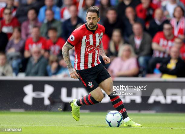 Danny Ings of Southampton in action during the Premier League match between Southampton FC and Huddersfield Town at St Mary's Stadium on May 12 2019...