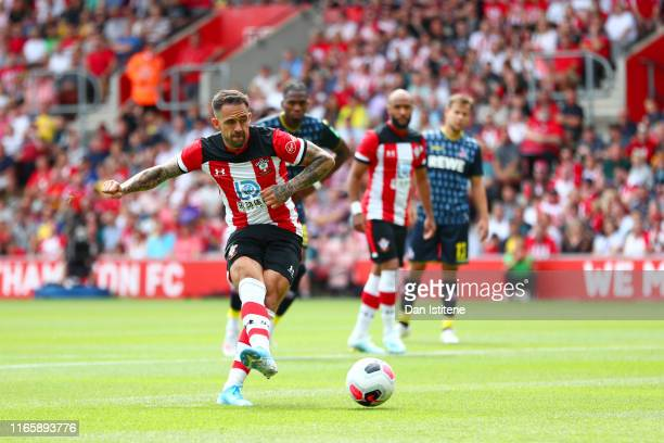 Danny Ings of Southampton scores his team's first goal from the penalty during the Pre-Season Friendly match between Southampton and FC Koln at St....