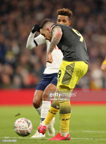 Danny Ings of Southampton scores his team's second goal during the FA Cup Fourth Round Replay match between Tottenham Hotspur and Southampton FC at...