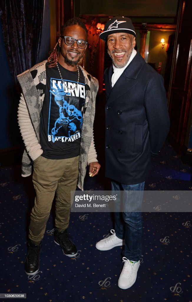 Danny John-Jules (R) and Dan-E attend a special screening of 'The Bobby Brown Story' at Cafe de Paris on September 10, 2018 in London, England.