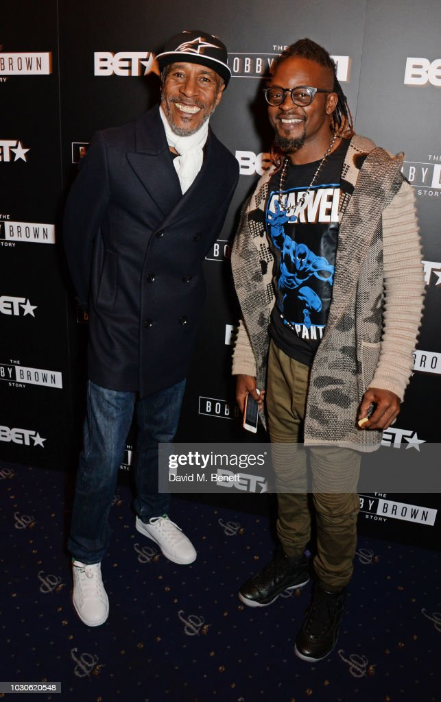 Danny John-Jules (L) and Dan-E attend a special screening of 'The Bobby Brown Story' at Cafe de Paris on September 10, 2018 in London, England.