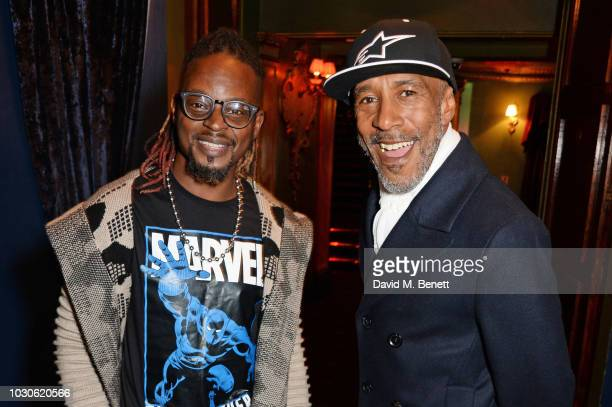 "Danny John-Jules and Dan-E attend a special screening of ""The Bobby Brown Story"" at Cafe de Paris on September 10, 2018 in London, England."