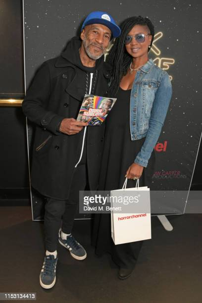 "Danny John-Jules and Petula Langlais attend the press night performance of ""Dark Sublime"" at Trafalgar Studios on July 1, 2019 in London, England."