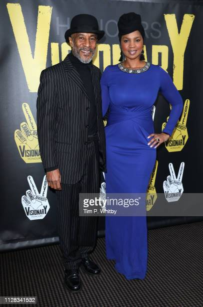 Danny John-Jules and Petula Langlais attend the UK's first prize celebrating social change in entertainment and media at BAFTA on February 08, 2019...