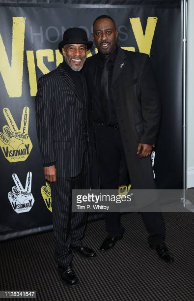 Danny John-Jules and Winston Ellis attend the UK's first prize celebrating social change in entertainment and media at BAFTA on February 08, 2019 in...