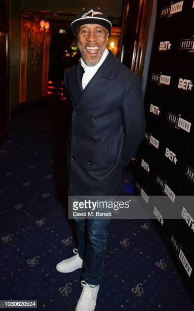 "Danny John-Jules attends a special screening of ""The Bobby Brown Story"" at Cafe de Paris on September 10, 2018 in London, England."