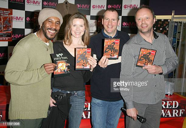 Danny John-Jules, Chloe Annett, Chris Barrie and Robert Llewellyn