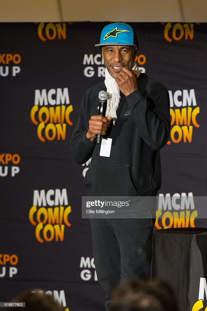 Danny John-Jules of Red Dwarf atends Comic Con 2016 talking to fans on March 19, 2016 in Birmingham, United Kingdom.