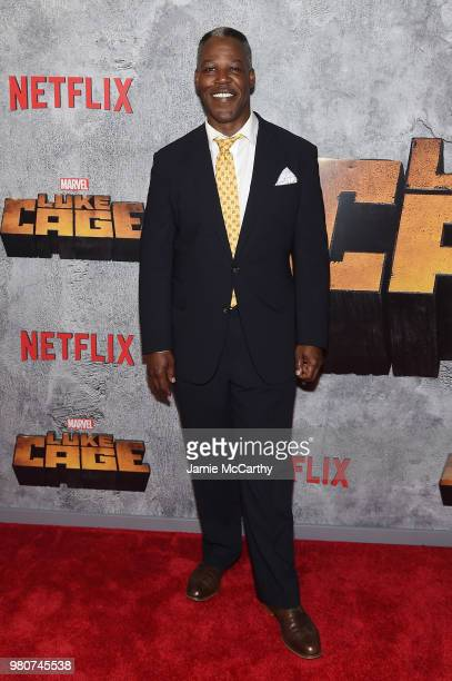 Danny Johnson attends the 'Luke Cage' Season 2 premiere at The Edison Ballroom on June 21 2018 in New York City