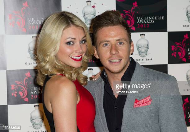 Danny Jones and Georgia Horsley attend The Lingerie Awards at Number 1 Mayfair on September 19 2012 in London England