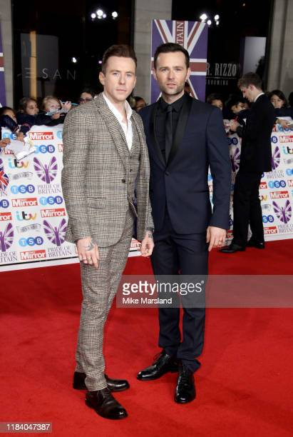 Danny Jones and Harry Judd attend Pride Of Britain Awards 2019 at The Grosvenor House Hotel on October 28 2019 in London England