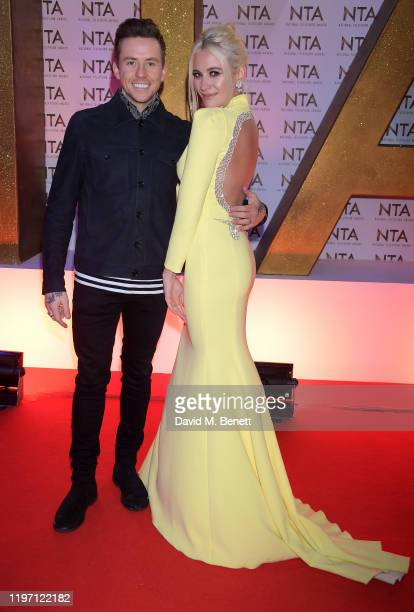 Danny Jones and Pixie Lott attend the National Television Awards 2020 at The O2 Arena on January 28, 2020 in London, England.