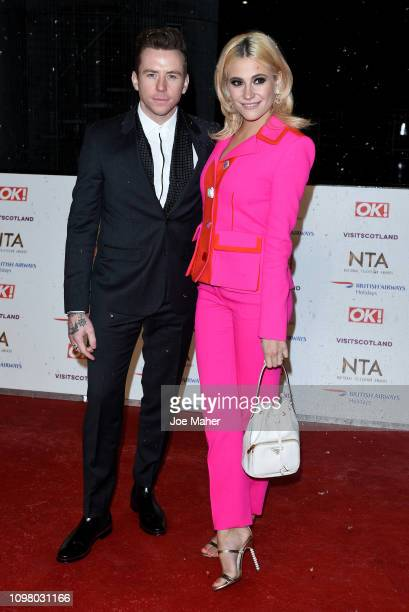 Danny Jones and Pixie Lott attend the National Television Awards held at The O2 Arena on January 22 2019 in London England