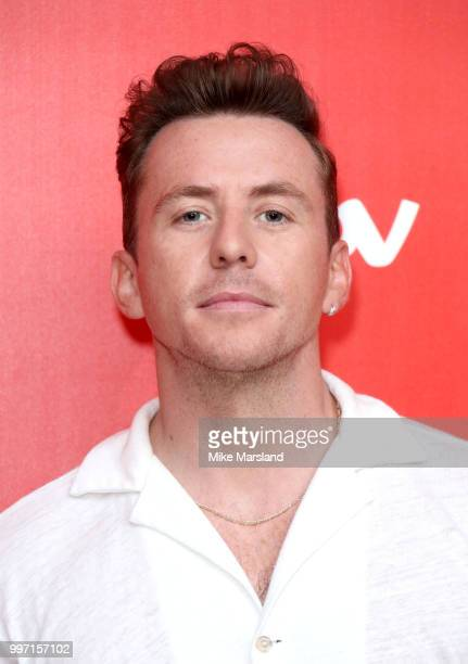 Danny Jones attends a photocall to launch season 2 of 'The Voice Kids' at Madame Tussauds on July 12 2018 in London England