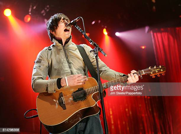 Danny Jones of McFly performing live on stage at the T4 Poll Winners' Party 2005 With Smash Hits at Wembley Arena Pavilion on November 20th 2005 in...