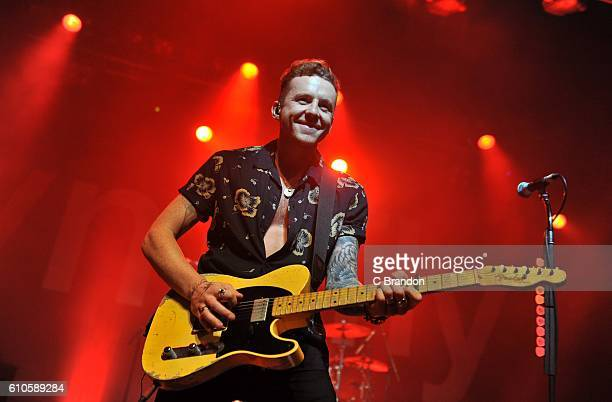 Danny Jones of McFly performs on stage at the O2 Forum in Kentish Town on September 26 2016 in London England