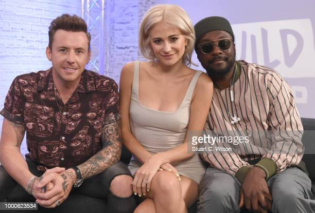 Pixie Lott and WILLIAM talk about 'The Voice Kids' at BUILD on July 17 2018 in London England