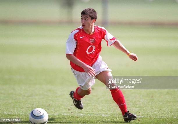 Danny Karbassiyoon of Arsenal during a Premier Reserves League match between Arsenal Reserves and Portsmouth Reserves on March 19 2005 in St Albans...
