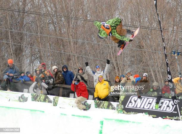 Danny Kass Halfpipe Finals March 18th during 24th Annual Burton US Open Snowboarding Championships at Stratton Mountain in Stratton Vermont United...