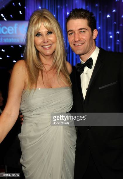 Danny Kaye Humanitarian Award Honorees Irena Medavoy and actor Matthew Morrison attend the 2011 UNICEF Ball presented by Baccarat held at the Beverly...