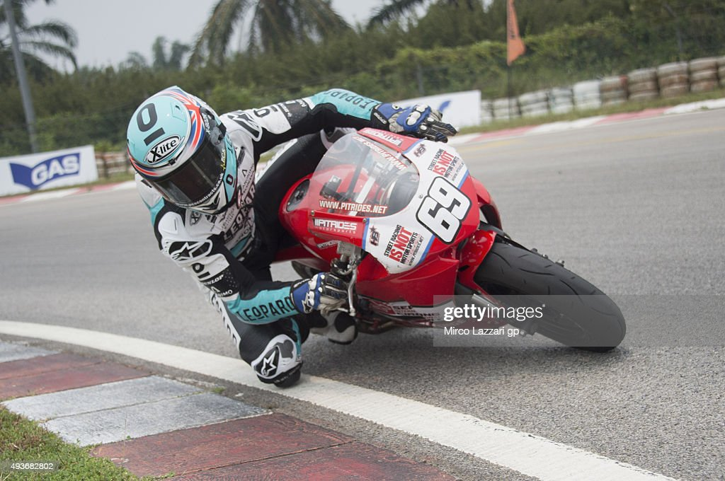 Danny Kent of Britain and Leopard Racing rounds the bend dring the pre-event 'Mini Bikes Race at the Sepang International Go-Kart Circuit' ahead of the MotoGP of Malaysia at Sepang Circuit on October 22, 2015 in Kuala Lumpur, Malaysia.