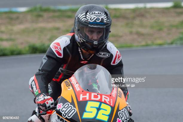 Danny Kent of Great Britain and Beta Tools Speed Up Racing returns in box during the Moto2 Moto3 Tests In Jerez at Circuito de Jerez on March 8 2018...
