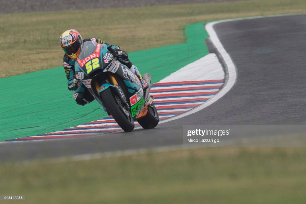 Danny Kent of Great Britain and Beta Tools - Speed Up Racing rounds the bend during the qualifying practice during the MotoGp of Argentina - Qualifying on April 7, 2018 in Rio Hondo, Argentina.