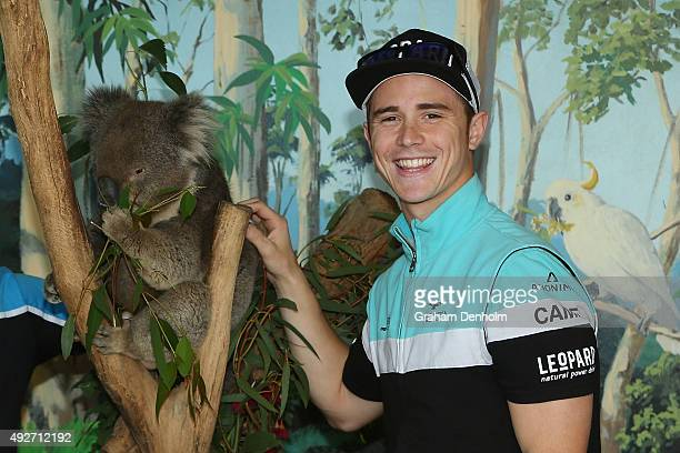 Danny Kent of Great Britain and Leopard Racing poses with a koala bear at an animal park ahead of the 2015 MotoGP of Australia at Phillip Island...