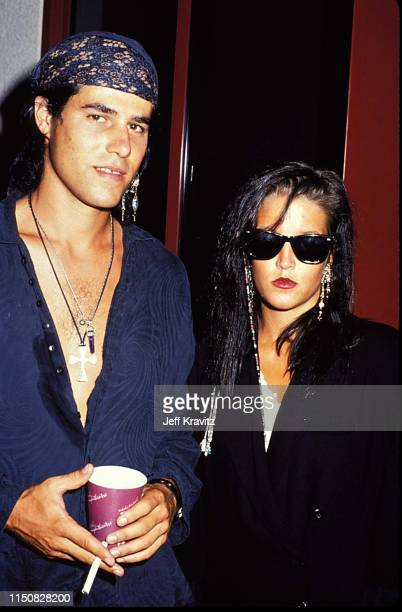 Danny Keough and Lisa Marie Presley at the 1990 MTV Video Music Awards at in Los Angeles California