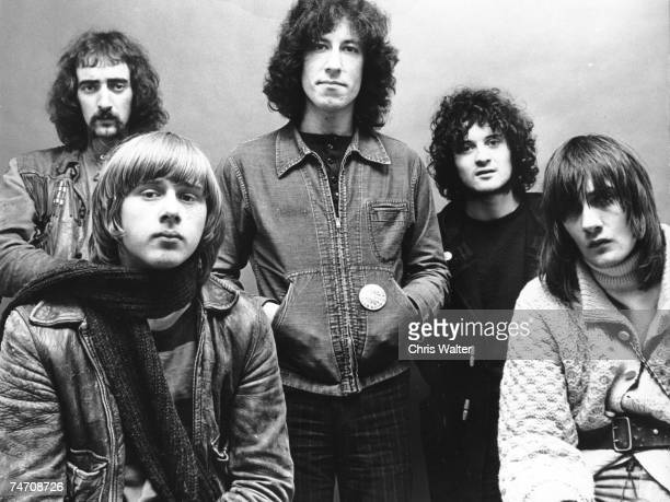 danny kirwan fleetwood mac jeremy spencer john mcvie mick fleetwood peter green of Fleetwood Mac 1969 during Music File Photos The 1960s by Chris...